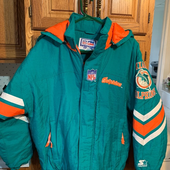 sports shoes 36f7c 1179c Vintage 90s Miami Dolphins Starter Winter Jacket